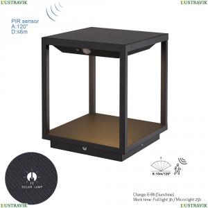 7085 Настольно-напольный уличный светильник (солнечная батарея, сенсор, датчик движения) Mantra (Мантра), MERIBEL