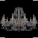 1406/10/300/G Хрустальная подвесная люстра Bohemia Ivele Crystal (Богемия)