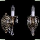 1702B/1/175/A/GB Бра с элементами художественного литья и хрусталем Bohemia Ivele Crystal (Богемия)