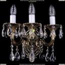 1702B/2+1/175/A/GB Бра с элементами художественного литья и хрусталем Bohemia Ivele Crystal