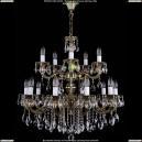 1702/10+5/B/GB Хрустальная подвесная люстра Bohemia Ivele Crystal (Богемия)