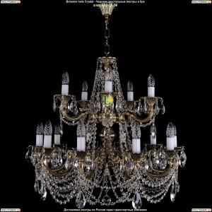 1702/10+5/C/GB Подвесная люстра Bohemia Ivele Crystal (Богемия)