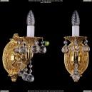 1702B/1/175/A/G/Balls Бра с элементами художественного литья и хрусталем Bohemia Ivele Crystal