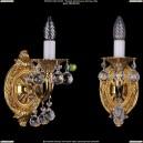 1702B/1/175/B/G/Balls Бра с элементами художественного литья и хрусталем Bohemia Ivele Crystal