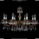 1702/8/A/FP/Leafs Хрустальная подвесная люстра Bohemia Ivele Crystal (Богемия)