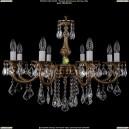 1702/8/B/FP/Leafs Хрустальная подвесная люстра Bohemia Ivele Crystal (Богемия)