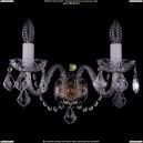 1402B/2/195/XL/Pa/Leafs Хрустальное бра Bohemia Ivele Crystal