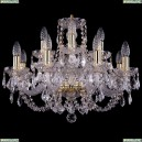 1406/8+4/195/G/Leafs Хрустальная подвесная люстра Bohemia Ivele Crystal (Богемия)