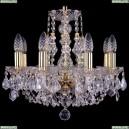 1406/8/141/G/Leafs Хрустальная подвесная люстра Bohemia Ivele Crystal (Богемия)