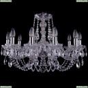 1406/10/240/Ni Хрустальная подвесная люстра Bohemia Ivele Crystal (Богемия)
