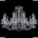 1406/10/240/Ni/Leafs Хрустальная подвесная люстра Bohemia Ivele Crystal (Богемия)