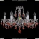 1410/6/195/Ni/V7010 Хрустальная подвесная люстра Bohemia Ivele Crystal (Богемия)