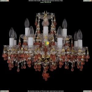 1410/8+4/195/G/7010 Хрустальная подвесная люстра Bohemia Ivele Crystal (Богемия)