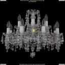 1410/8+4/195/Ni/V0300 Хрустальная подвесная люстра Bohemia Ivele Crystal (Богемия)
