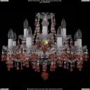 1410/8+4/195/Ni/V7010 Хрустальная подвесная люстра Bohemia Ivele Crystal (Богемия)