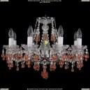 1410/8/195/Ni/V7010 Хрустальная подвесная люстра Bohemia Ivele Crystal (Богемия)