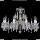 1410/10/240/Ni/V0300 Хрустальная подвесная люстра Bohemia Ivele Crystal