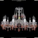 1410/10/240/Ni/V7010 Хрустальная подвесная люстра Bohemia Ivele Crystal (Богемия)