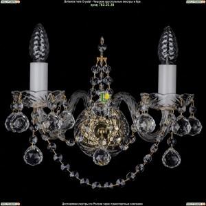 1411/2/G/Balls Хрустальная бра Bohemia Ivele Crystal (Богемия)