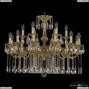 72101/12+6/300 A G Подвесная люстра под бронзу из латуни Bohemia Ivele Crystal (Богемия), 7201