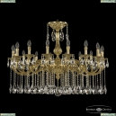 72101/16/360 A G Подвесная люстра под бронзу из латуни Bohemia Ivele Crystal (Богемия), 7201