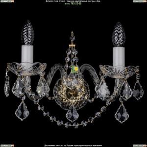 1411/2/G/Big/Leafs Хрустальная бра Bohemia Ivele Crystal (Богемия)