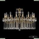 72201/16/300 A GB Подвесная люстра под бронзу из латуни Bohemia Ivele Crystal (Богемия), 7201