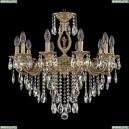 72401/10/210 B FP FA10S Подвесная люстра под бронзу из латуни Bohemia Ivele Crystal (Богемия), 7201