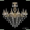 72401/12/360 B G FA10B Подвесная люстра под бронзу из латуни Bohemia Ivele Crystal (Богемия), 7201