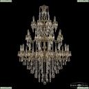 72401/16+8+8/360/3D B GB FA4M Подвесная люстра под бронзу из латуни Bohemia Ivele Crystal (Богемия), 7201
