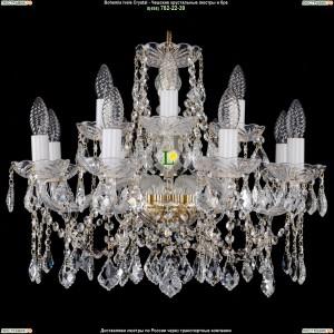 1413/8+4/200/G/Leafs Хрустальная подвесная люстра Bohemia Ivele Crystal (Богемия)