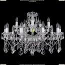 1413/10+5/300/Ni/Leafs Хрустальная подвесная люстра Bohemia Ivele Crystal (Богемия)