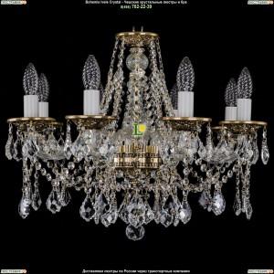 1613/8/200/GB/Leafs Хрустальная подвесная люстра Bohemia Ivele Crystal (Богемия)