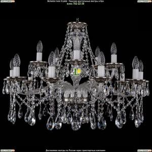 1613/10+5/300/NB Хрустальная подвесная люстра Bohemia Ivele Crystal (Богемия)