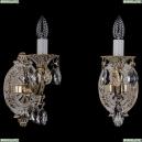 1702B/1/175/A/GW Бра с элементами художественного литья и хрусталем Bohemia Ivele Crystal