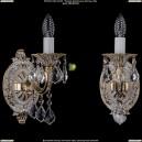 1702B/1/175/A/GW/Leafs Бра с элементами художественного литья и хрусталем Bohemia Ivele Crystal