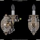 1702B/1/175/B/GW/Balls Бра с элементами художественного литья и хрусталем Bohemia Ivele Crystal
