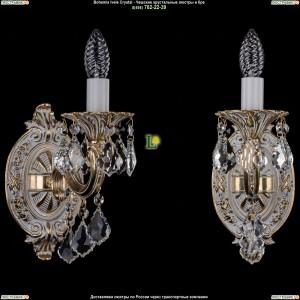 1700/1/B/GW/Leafs Бра с элементами художественного литья и хрусталем Bohemia Ivele Crystal (Богемия)
