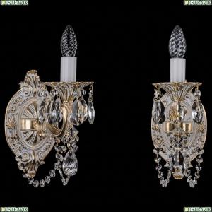 1702B/1/175/C/GW Бра с элементами художественного литья и хрусталем Bohemia Ivele Crystal (Богемия)