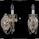 1702B/1/175/C/GW/Leafs Бра с элементами художественного литья и хрусталем Bohemia Ivele Crystal