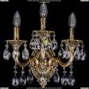 1702B/2+1/CK175IV+UP125IV/A/GB Бра с элементами художественного литья и хрусталем Bohemia Ivele Crystal