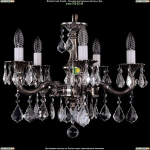 1701/5/A/NB/Leafs Подвесная люстра Bohemia Ivele Crystal (Богемия)