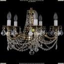 1701/5/C/GB/Leafs Хрустальная подвесная люстра Bohemia Ivele Crystal (Богемия)