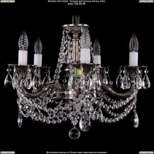 1701/5/C/NB Подвесная люстра Bohemia Ivele Crystal (Богемия)