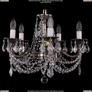 1701/5/C/NB/Leafs Подвесная люстра Bohemia Ivele Crystal (Богемия)
