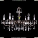 1702/6/250/A/NB/Leafs Хрустальная подвесная люстра Bohemia Ivele Crystal