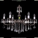 1702/6/250/B/NB/Leafs Хрустальная подвесная люстра Bohemia Ivele Crystal