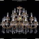 1702/10+5+5/335-64/A/GB Большая хрустальная подвесная люстра Bohemia Ivele Crystal