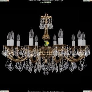 1702/10/A/GB/Leafs Подвесная люстра Bohemia Ivele Crystal (Богемия)