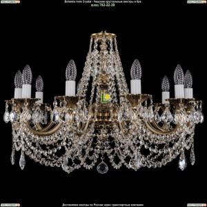 1702/10/C/GB/Leafs Подвесная люстра Bohemia Ivele Crystal (Богемия)